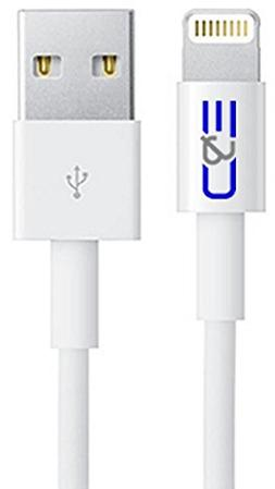 C&E Apple MFI Certified 8P Lightning to USB Cable 6.56-Feet
