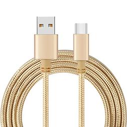 Type-C Cable Nylon Braided Tangle USB C Cable-Free Fastest C
