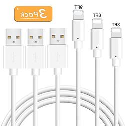 Charger Cable Novtech 3Pack 3FT 6FT 9FT Charger Cord Certifi