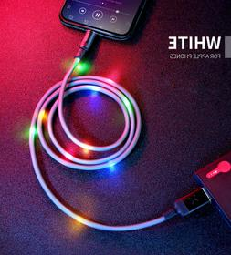 MCDODO Colorful LED Light-up Lightning Charger USB Cable iPh