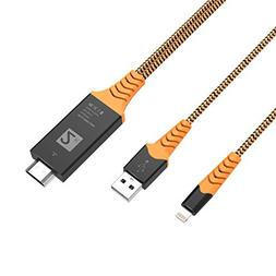 Ivendita 1900 Compatible with iPhone iPad to HDMI Adapter Ca