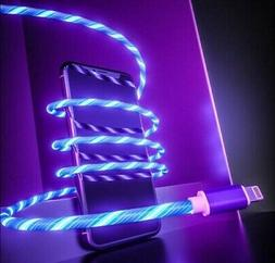 Flowing LED Light USB Lightning Charger Cable for iPhone 5 6