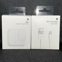 Genuine OEM Apple Lightning 6FT USB Cable Wall Charger for i