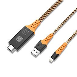 HDMI Adapter Cable, Ivendita 1900 Compatible with iPhone iPa