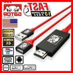 HDMI Mirroring AV Cable Phone to TV HDTV Adapter Universal i