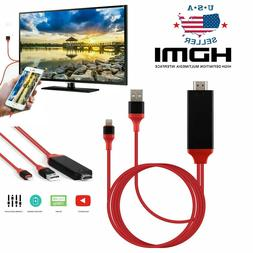 HDMI Mirroring Cable Phone to TV HDTV Adapter For iPhone X/X