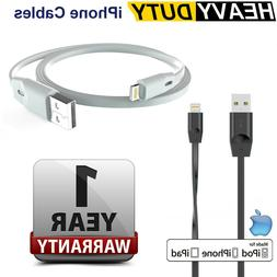 Heavy DUTY Flat Lightning Cable Data & Charger for Apple iPh