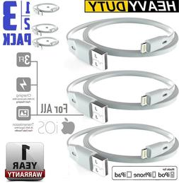 Heavy DUTY Flat Lightning USB Cable Data & Charger for iPhon