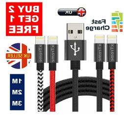 Heavy Duty Lightning Long Charger Cable For iPhone 5 6 7 8 X
