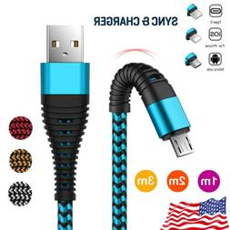 Heavy Duty Metal Braided Lightning USB Fast Charger Cable 1~
