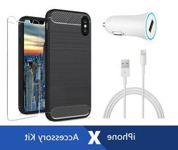 iPhone X Original Apple USB Lightning Cable + Car Charger +
