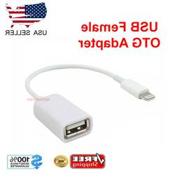 For iPhone 5 5s 6 6s Plus 7/XS/XR/X 8 PIN Male To USB Female