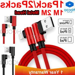 For iPhone 6 7 8 Plus X Braided 90 Degree Lightning Cable US
