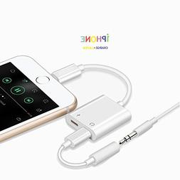 iPhone Adapter 2 in 1 for Headphones and Charger, iPhone X/8