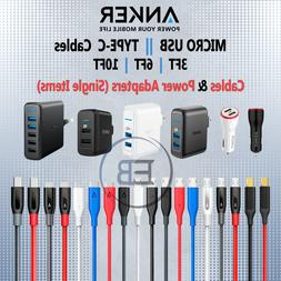ANKER 3FT 6FT 10FT Cable Lightning Type C iPhone Android Pho