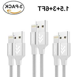 iPhone Cable WMZ  1.5FT/3FT/6FT Nylon Braided 8 Pin Charging