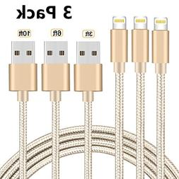 iPhone Charger, 3Pack Lightning Charging Cable, Multi Safety