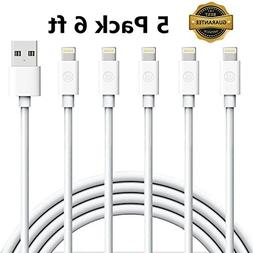 iPhone Charger Cable, Everdigi Lightning Cable 5Pack 6FT iPh