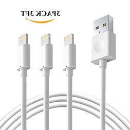 Novtech Charger Cable 3 Pack 3FT Lightning to USB Cable Fast