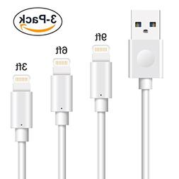 iPhone Charger Cables, MarchPower 3 Pack 3ft 6ft 10ft Lightn