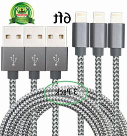 Yakonn iPhone Charger Charging Cable 3 pack Lightening Cable