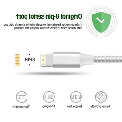 iPhone Cable Charger MFi Certified 4Packs  to USB Charging &
