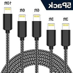 TNSO iPhone Charger,MFi Certified Lightning Cable 5Pack(3FT