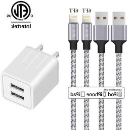 iPhone Charger, YUNSONG Nylon Braided Lightning Cable 2Pack
