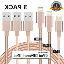 Everdigi iPhone Charger, 3 Pack 3FT 6FT 10FT Lightning Cable