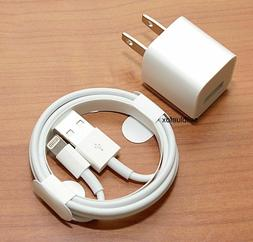 iPhone charger USB cable & wall cube for  IPHONE 5 , 6, 6+ 7