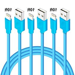 iPhone Charging Cord, M-Better 3Pcs 10ft Lightning to USB Ca