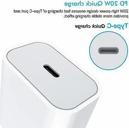 iPhone Fast Charger  20W USB C Wall Charger with 3FT USB C t