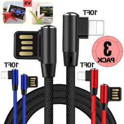 iPhone Fast Charger Cable USB 10Ft Lightning Cable Heavy Dut