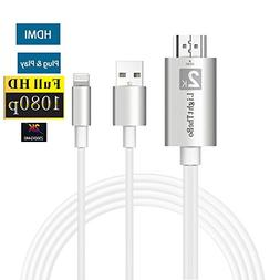 Lightning to Hdmi Adapter, iPhone to HDMI Upgraded Version L