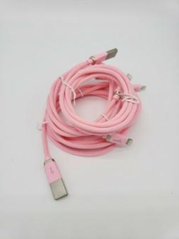 Aimus iPhone iPad Cotton Braided Lightning Cable Set of 3 in