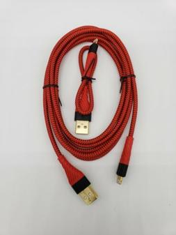 Aimus iPhone iPad Set of 2 Lightning Cables In Red 6ft 0.5ft