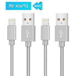 Alanda iPhone Lightning Cable 2pack 9ft Braided Lightning US