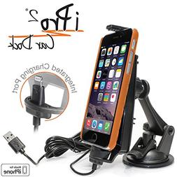 iBolt iPro2 Car Dock for iPhone 5, 5c, 5s, 6, 6+ with integr