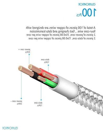 Cellinnovation 3-in-1 Lighting USB 3.0 Data-Transmission Cable-Certified FCC & RoHS Quick-Charge Cable & Android - USB, Lightning