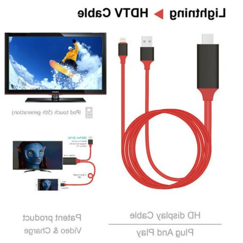 1080P Lightning to HDMI TV AV Adapter Type C Micro Cable For