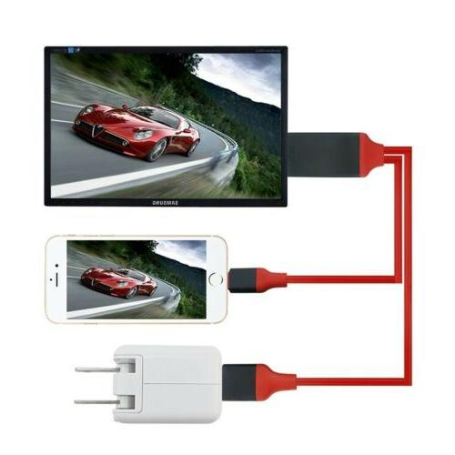1080P to Adapter Cable 6S 8 Plus X iPad