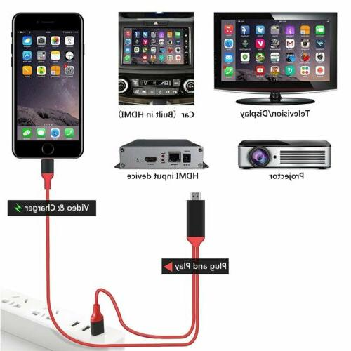 1080P TV AV Adapter Cable for 6S 7 Xs