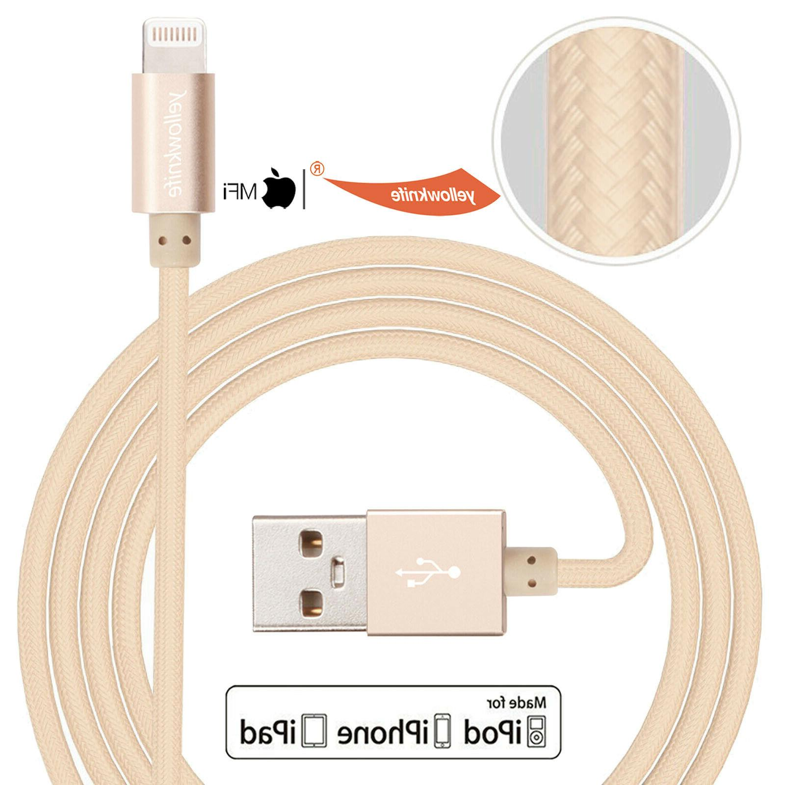 2-Pack Lightning to USB Braided Cable Laptop Gold For iPad mini5