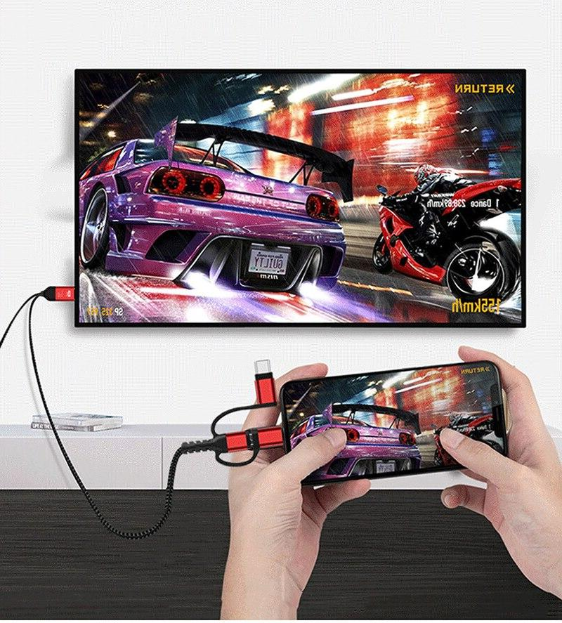 2K HDTV HDMI Display For iPhone X XS MAX Samsung S10+ C Phone TV