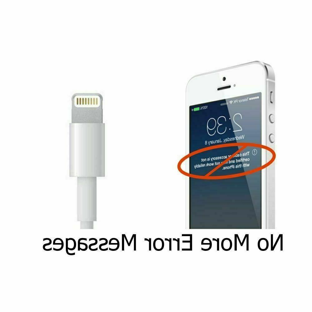 2Pack 6FT USB For Original iPhone5 X Charger
