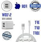 3,6, or 10ft lightning USB cable for iphone With Double USB