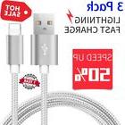3 pack 10ft lightning cable heavy duty