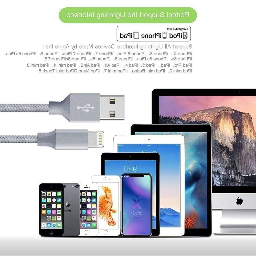 New Lightning Cable For iPhone X XR XS iPhone 8 6 Plus Cord