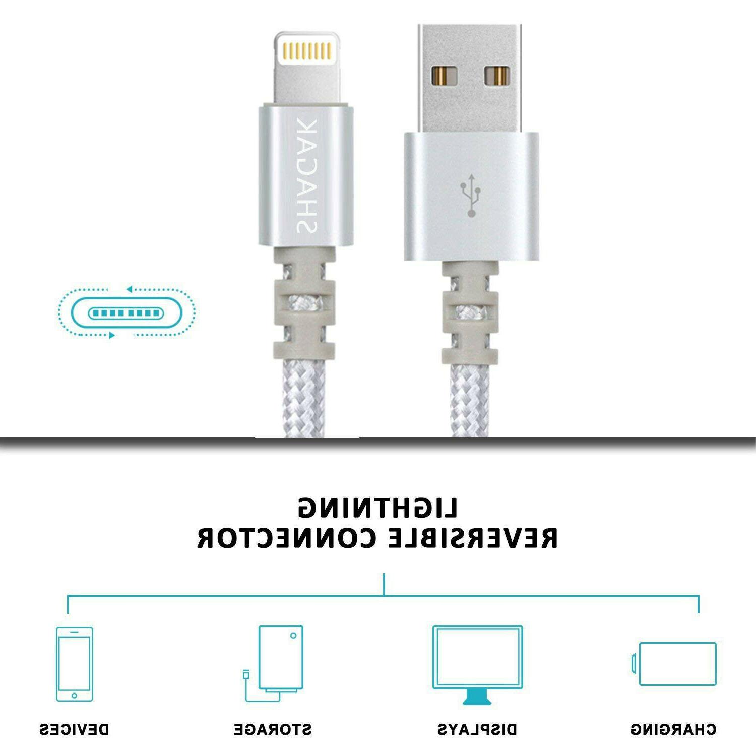 3 6 Lightning Cable X 8 7 USB Charging Charger