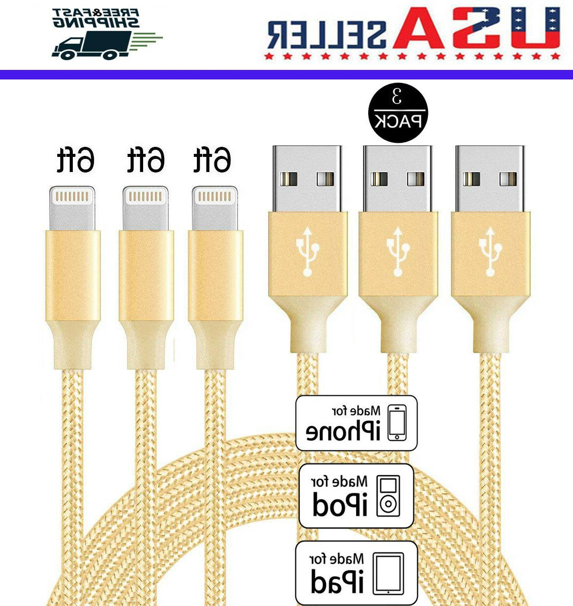3-Pack 6 Cable 7 8 X USB Charging Heavy Charger New